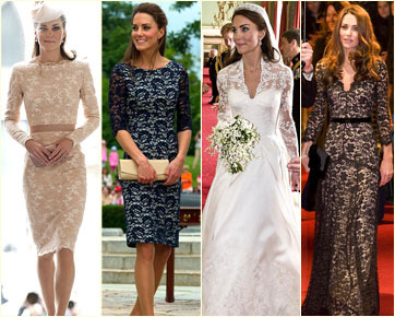 Fashion Do's & Don'ts: Sensualitas Kate Middleton dalam Balutan Lace