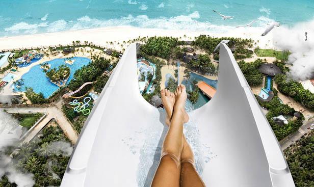 insano beach park brazil wahana air tertinggi di dunia