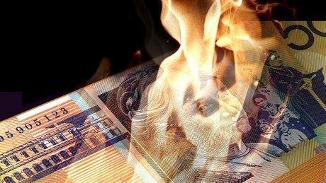 Uang Dibakar