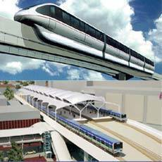 Jalur Rute Monorel Jakarta Desain PT. Adhi Karya