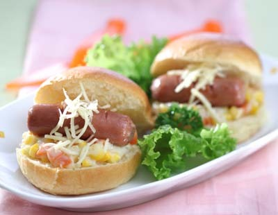 Mini Sandwich Ragout Sayur Sosis