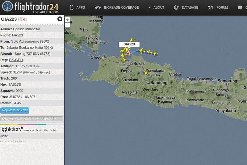 Keren! Sekarang Bisa Lacak Pesawat Via Internet [ www.BlogApaAja.com ]