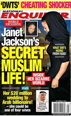 Foto Janet Jackson mengenakan kerudung