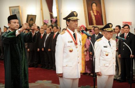 Pelantikan Sri Sultan HB X sebagai Gubernur DIY