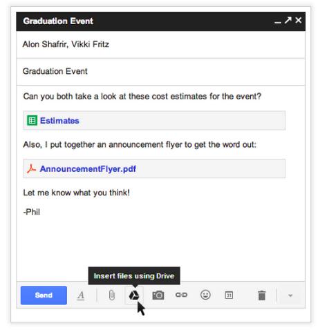 Kolaborasi GMail + Google Drive Bisa Kirim File 10GB