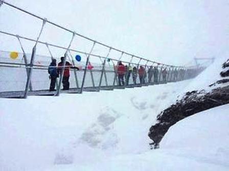 Jembatan Gantung Paling Berbahaya di Eropa
