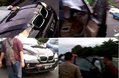 YOUTUBE PENYEBAB PENUMPANG JATUH AKIBAT TRAGEDI MAUT BMW X5 RASYID AMRULLAH RAJASA 2013