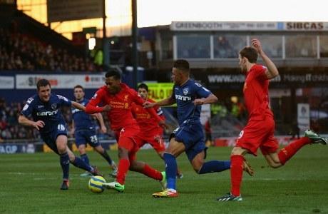 Hasil Piala FA : Oldham 3-2 Liverpool