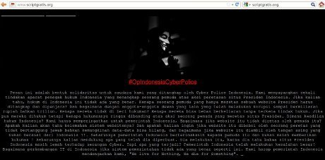 "Dukung Peretas Situs SBY,  ""Anonymous"""