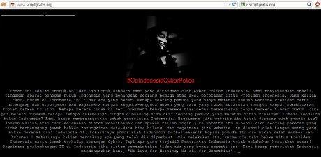 Dukung Peretas Situs SBY 'Anonymous' Peringatkan Pemerintah