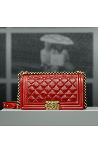 Red quilted Bag