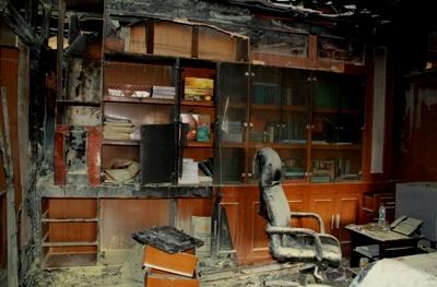 FOTO Ruang Mahkamah Agung yang Terbakar