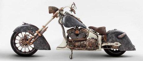 Foto Motor emas buatan modifikator asal Turki Tarhan Telli dari TT Customs