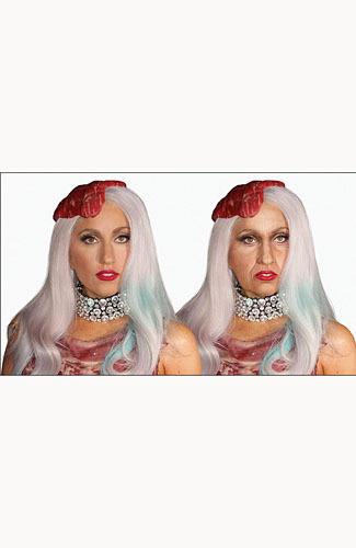 Wajah Lady Gaga saat ini dan ketia tua nanti