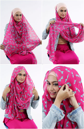 Tutorial Hijab 3