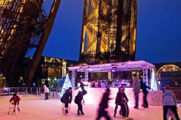 Eiffel Tower Ice Rink
