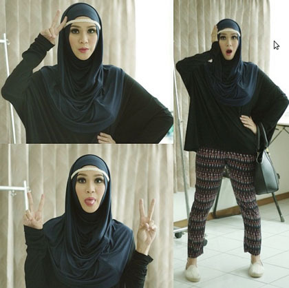 Hijab Style : Tampil Kasual ala Zaskia Adya Mecca