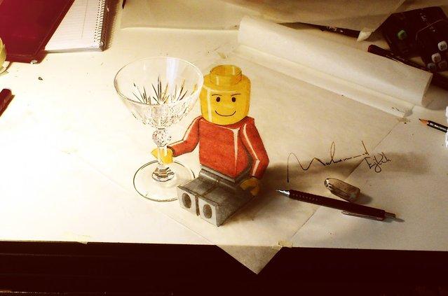 Keren! Gambar 3D Ini Hanya Dilukis dengan Pensil