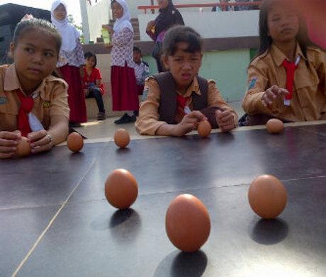 telur berdiri