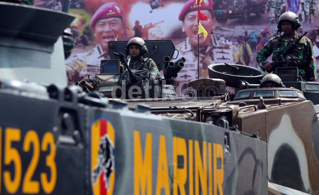 Moeldoko Sidak, Prajurit Marinir Tunggang Langgang
