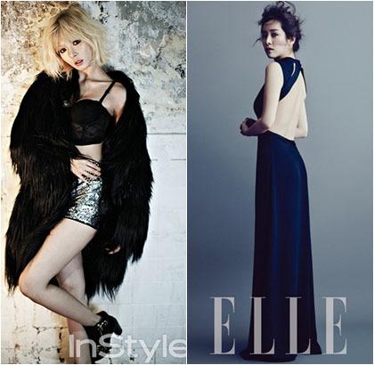 Foto Seksi Para Artis Cantik Korea di Pemotretan Majalah