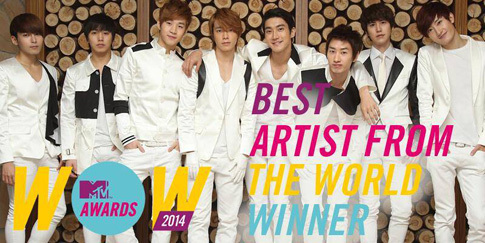 Super Junior Jadi 'Best Artist From The World' MTV Italia