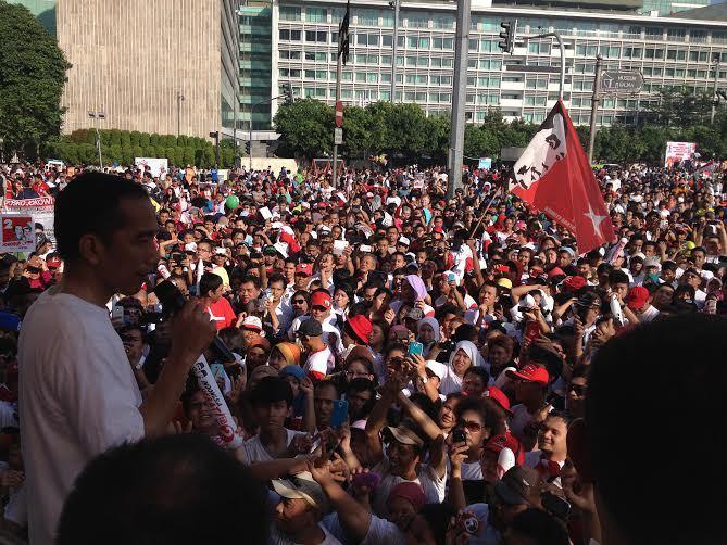 Jokowi dan Ucapan Terimakasih untuk Pendukungnya