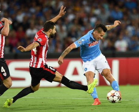 Internasional Liga Champions Liga Italia  - Hasil dan Skor Akhir Napoli vs Athletic Bilbao, Kualifikasi Liga Champions 20/8/2014