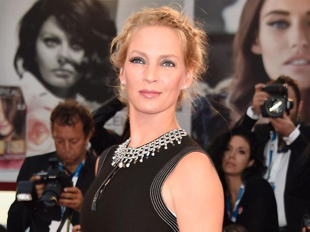 Uma Thurman Elegan di Festival Film Venice