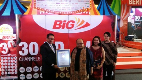 Sodorkan 30 Channel HD, Big TV Ukir Rekor MURI Java Pulsa Online Murah Jember Surabaya Jawa Timur