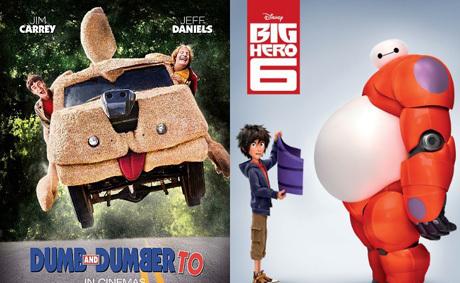 'Dumb and Dumber To' Geser 'Big Hero 6' dari Puncak Box Office