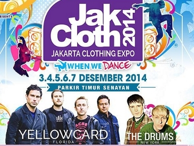 Yellowcard dan The Drums Tampil di JakCloth 2014