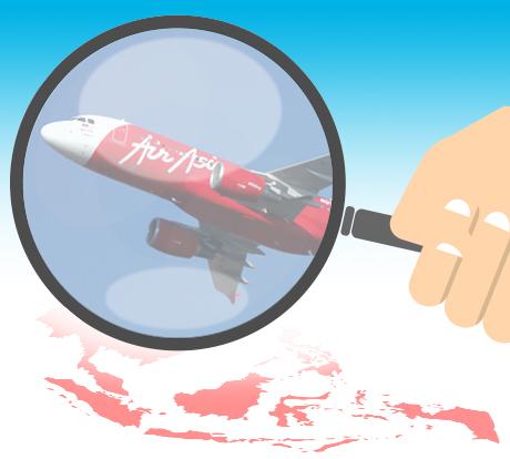 7 PESAWAT MELINTAS DI JALUR YANG SAMA DENGAN PESAWAT AIR ASIA QZ-8501 Terdeteksi Genangan Tumpahan Avtur di Tanjung Pandan