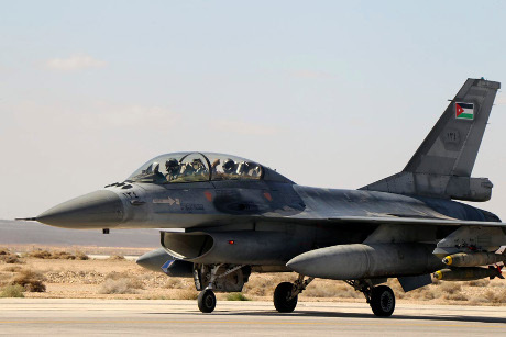 Balas Kematian Pilot, Jet Tempur Yordania Bombardir ISIS di Suriah