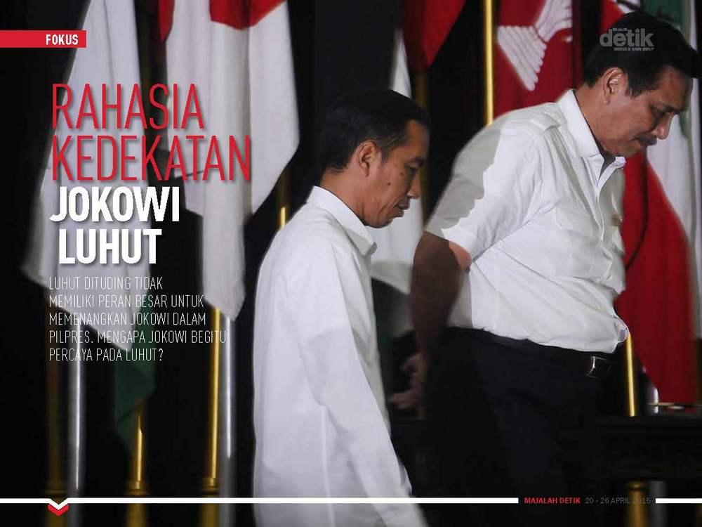 Rahasia Kedekatan Jokowi-Luhut
