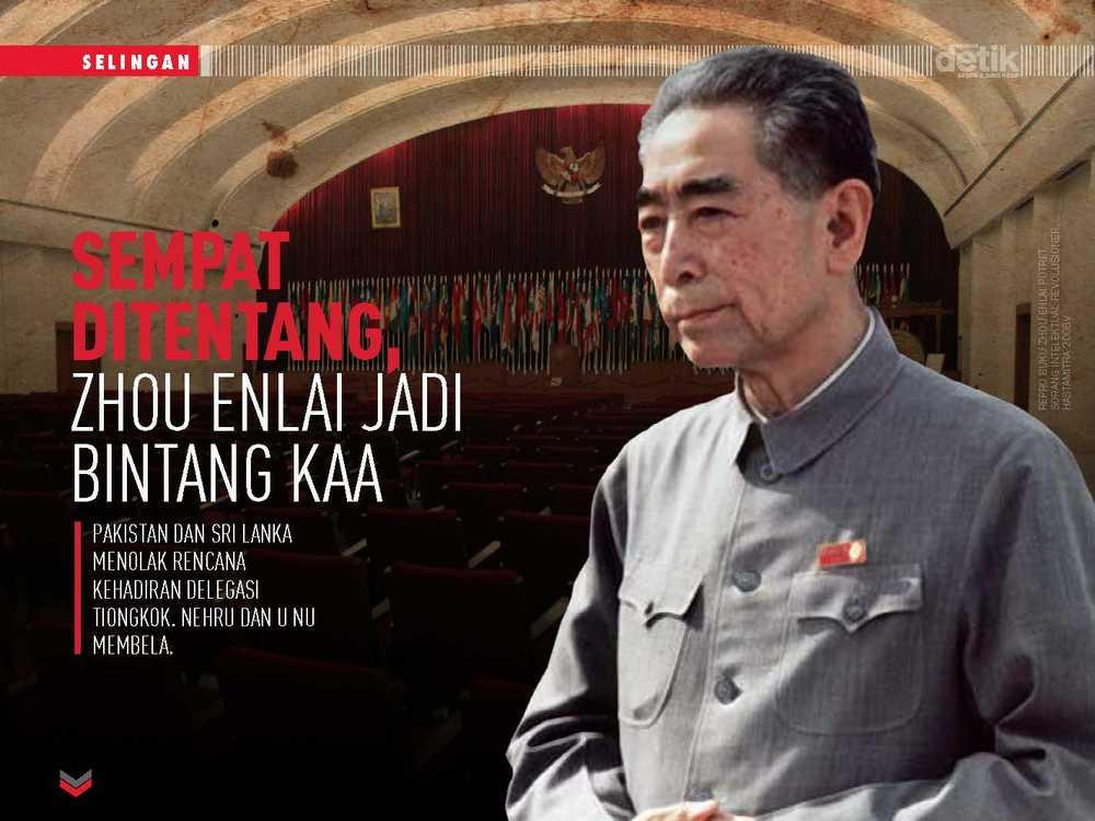 Sempat Ditentang, Zhou Enlai jadi Bintang KAA