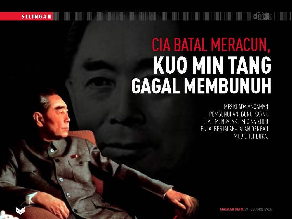 CIA Batal Meracun, Kuo Min Tang Gagal Membunuh