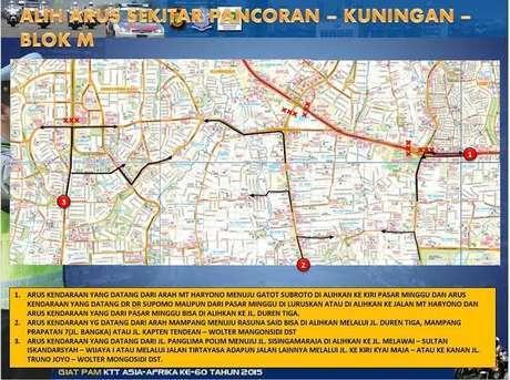 Ingat! Lalu Lintas Dialihkan, Jalan Protokol Jakarta Mulai Ditutup Pkl 06.30 WIB
