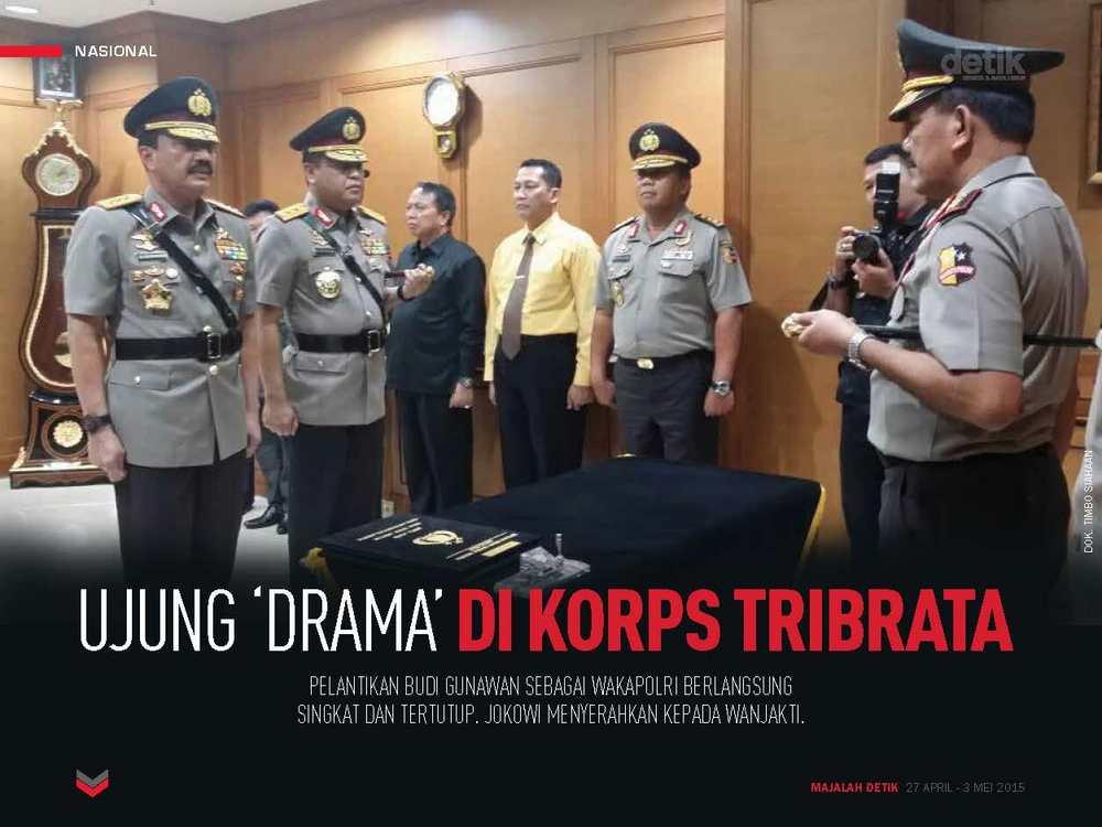 Ujung Drama di Korps Tribrata