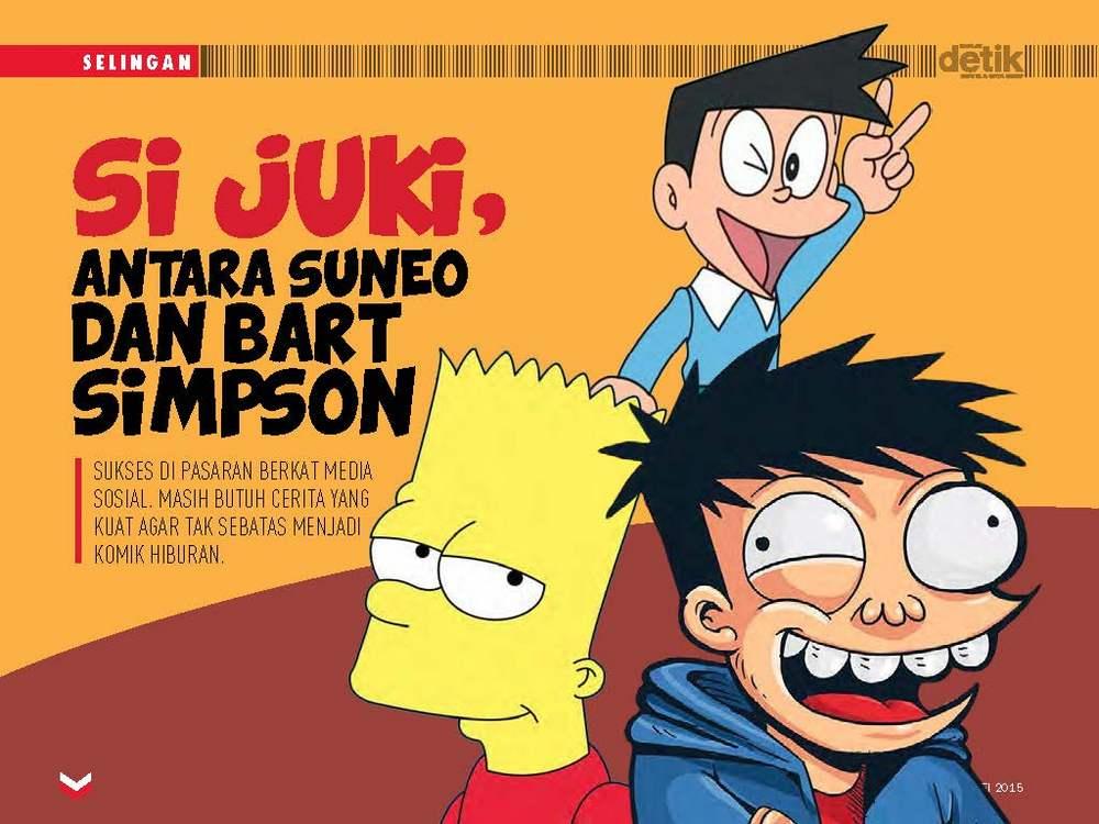Si Juki, antara Suneo dan Bart Simpson