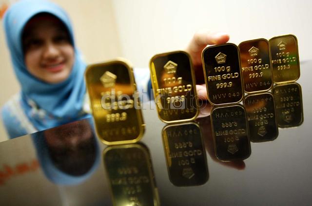 Harga Emas Batangan Antam Naik Lagi Rp 1.000/Gram