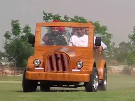 Mobil Kayu dari India Ini Bisa Lari 120 Km/Jam
