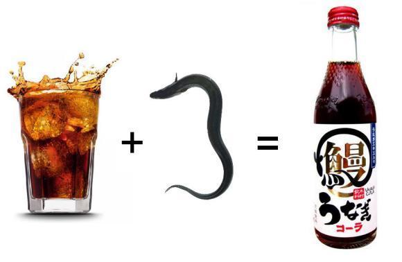 Menikmati soda rasa belut panggang Jepang!