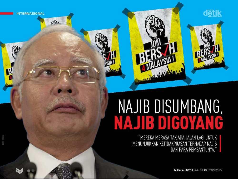Najib Disumbang, Najib Digoyang