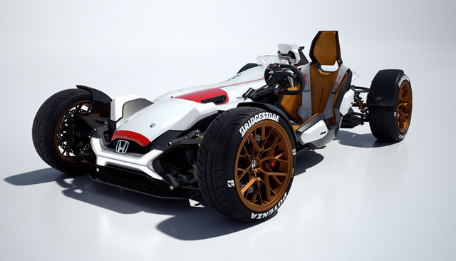 Mobil Unik Honda, Pakai Mesin MotoGP