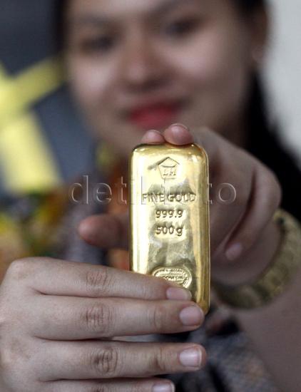 Harga Emas Masih Stagnan di Rp 550.000/Gram