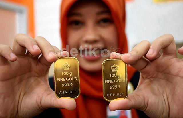 Harga Emas Antam Turun, Jadi Rp 548.000/Gram