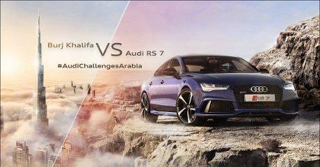 Adu Cepat Audi RS 7 dengan Lift Tercepat di Dunia