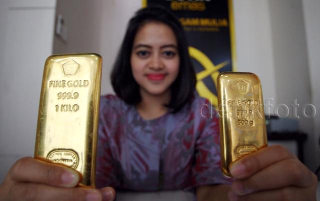 Harga Emas Hari Ini Tetap, Rp 548.000/Gram