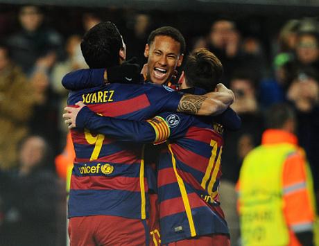 Messi-Suarez-Neymar vs Trisula Barcelona Lainnya